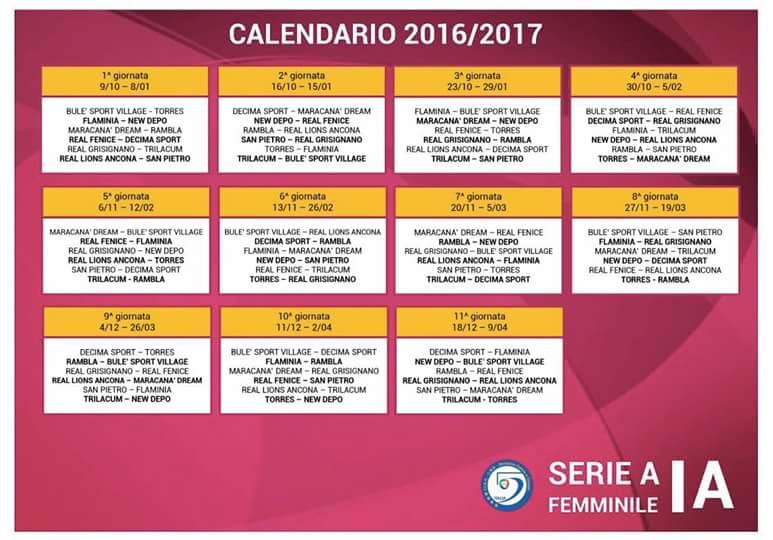 Serie A Calendario 6 Giornata.Calendario A S D Rambla