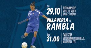 C5 femminile / Tuttocampo CUP 2° andata / Villaverla vs Rambla @ Palestra scuola media Carlo Goldoni
